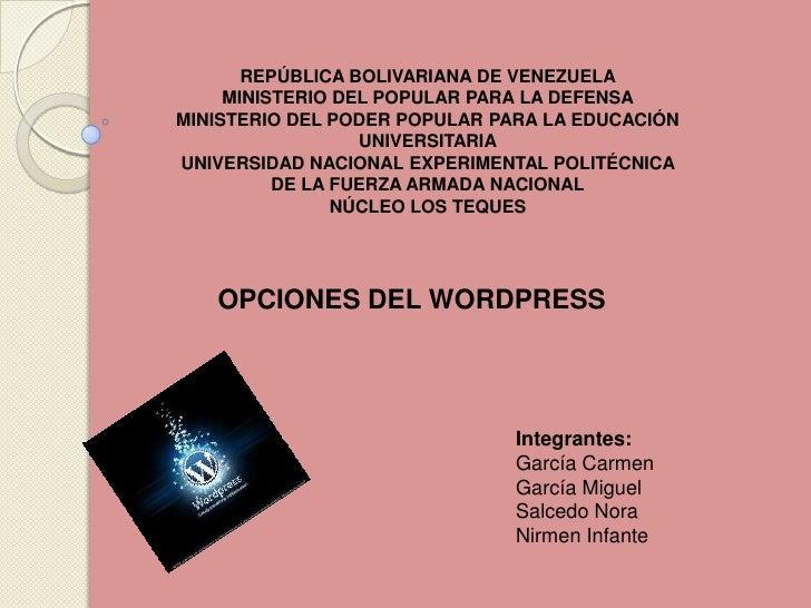 REPÚBLICA BOLIVARIANA DE VENEZUELA<br />MINISTERIO DEL POPULAR PARA LA DEFENSA<br />MINISTERIO DEL PODER POPULAR PARA LA E...