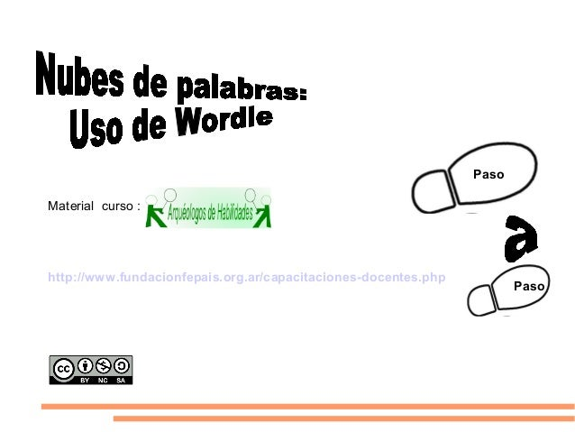 Paso Material curso :  http://www.fundacionfepais.org.ar/capacitaciones-docentes.php  Paso