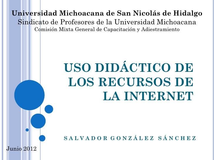 Universidad Michoacana de San Nicolás de Hidalgo  Sindicato de Profesores de la Universidad Michoacana         Comisión Mi...