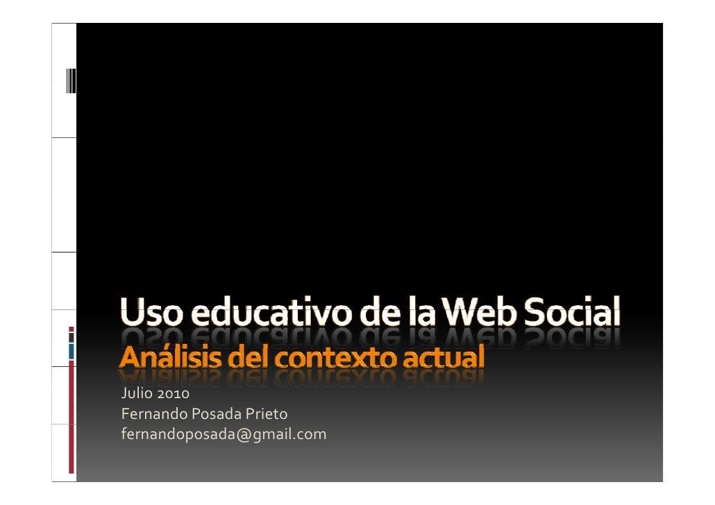 Uso educativo de la web social