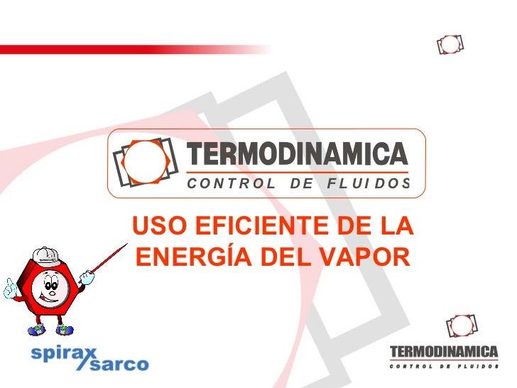 Uso eficiente de la energía del vapor