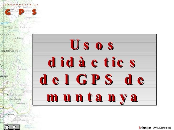 Usos Didàctics del GPS