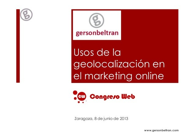 Usos de la geolocalizacion en el marketing online
