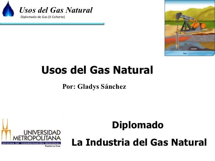 Usos del Gas Natural Por: Gladys Sánchez Diplomado  La Industria del Gas Natural