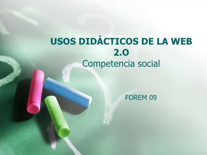 Usos Did. 09 2. Competencia social