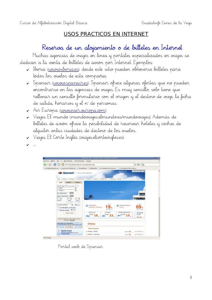 Curso de Alfabetización Digital Básica                      Guadalinfo Cenes de la Vega                        USOS PRACTI...