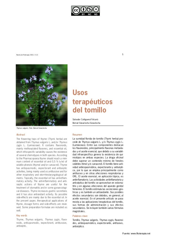 Revista de Fitoterapia 2000; I: 5-13                                                                        5             ...