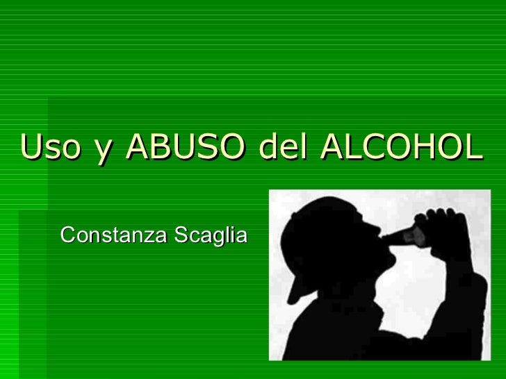 Uso y abuso del alcohol - Usos del alcohol ...