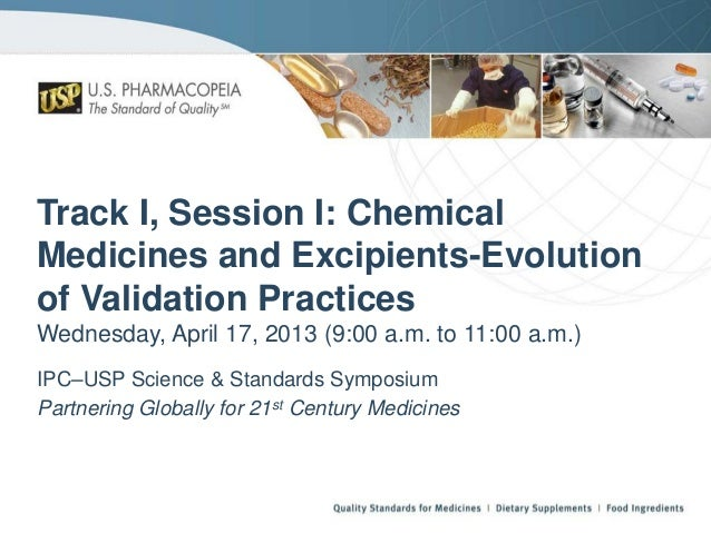 Usp    chemical medicines & excipients - evolution of validation practices