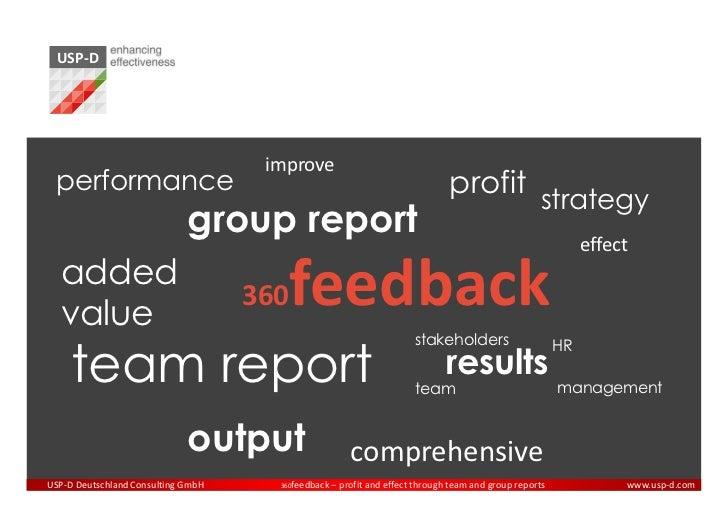 USP-D 360 Degree Feedback Group Report