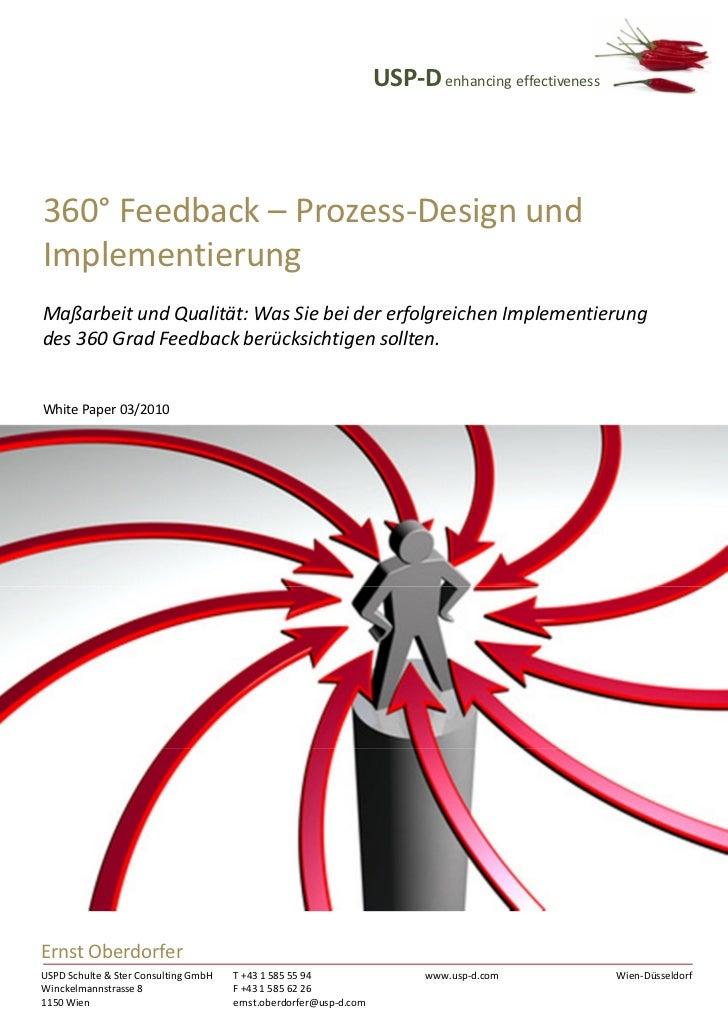 USP-D enhancing effectiveness360° Feedback – Prozess-Design undImplementierungMaßarbeit und Qualität: Was Sie bei der erfo...