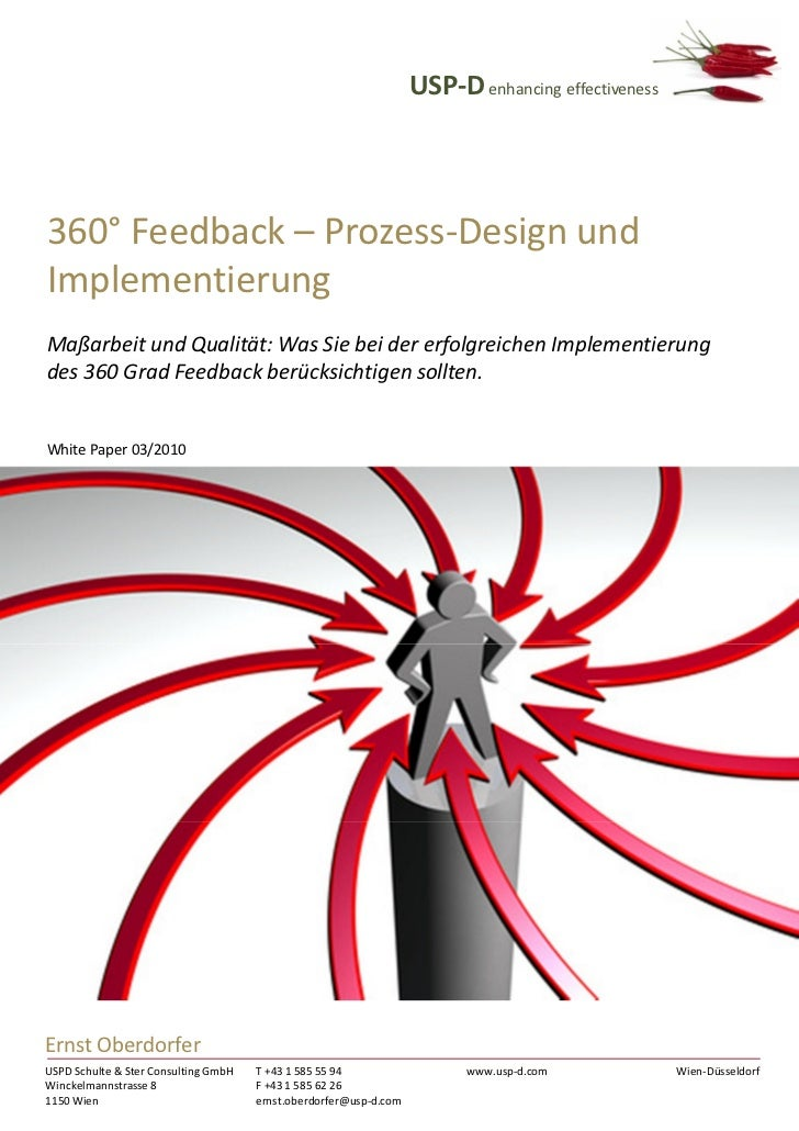 USP-D 360 Grad Feedback Implementierung