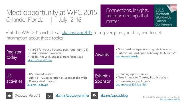 Get ready for WPC 2015