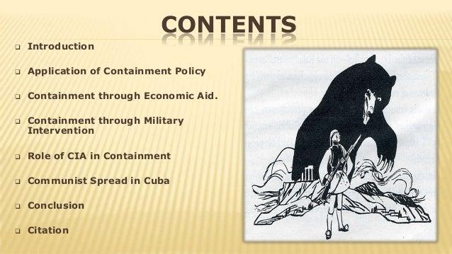 Containment of communism?