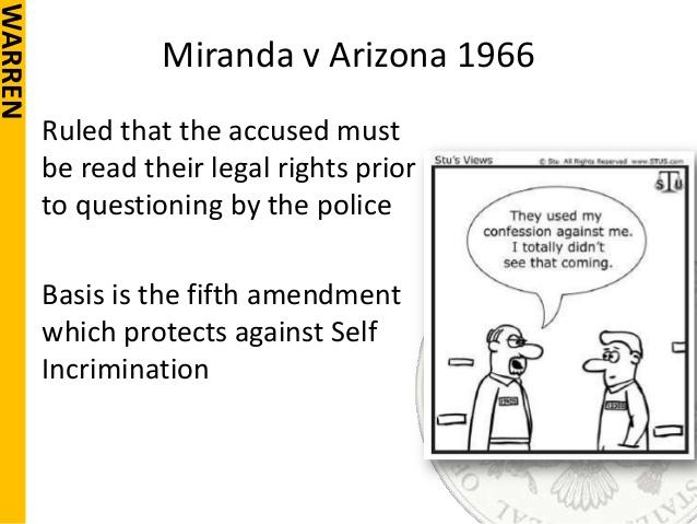 Miranda v Arizona - Infoplease