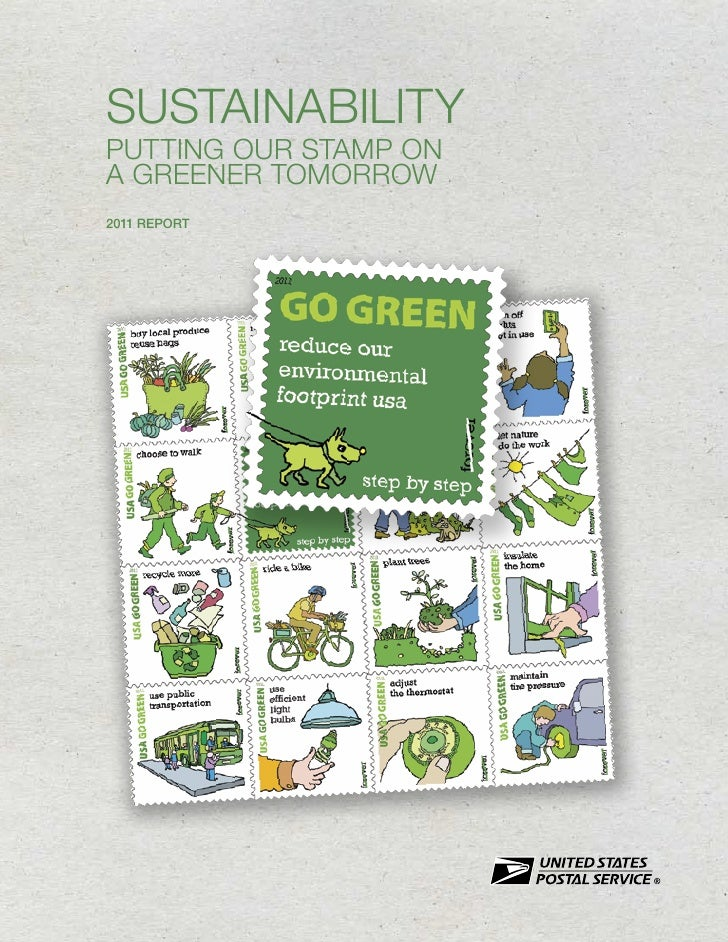 SUSTAINABILITYPUTTING OUR STAMP ONA GREENER TOMORROW2011 REPORT