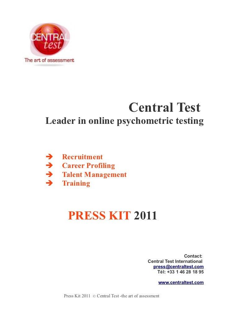 Central TestLeader in online psychometric testing   Recruitment   Career Profiling   Talent Management   Training     ...