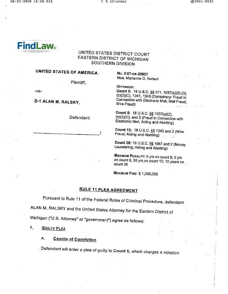 FindLaw | U.S. v. Rasky plea