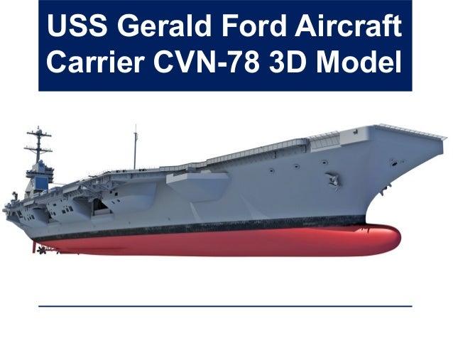 USS Gerald Ford Aircraft Carrier CVN-78 3D Model