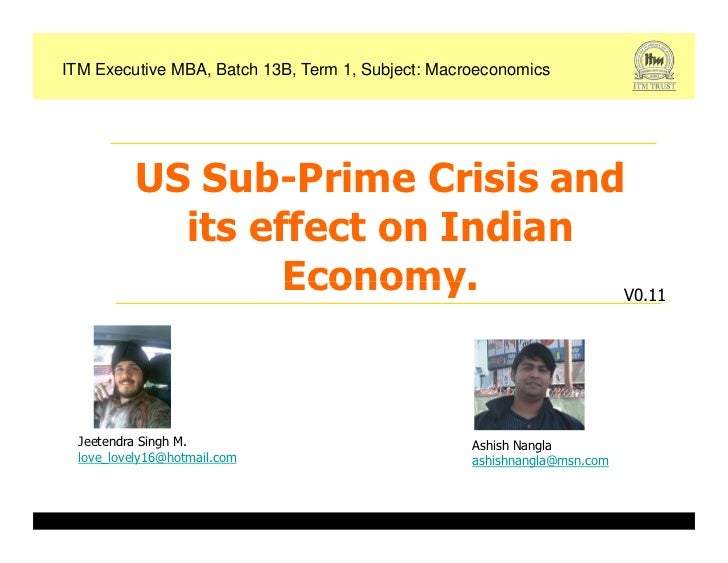 us financial crisis and its impact The current economic crisis, its causes how the crisis began in the us strengthening the role of the united nations development system in responding to the economic crisis and its impact on development.