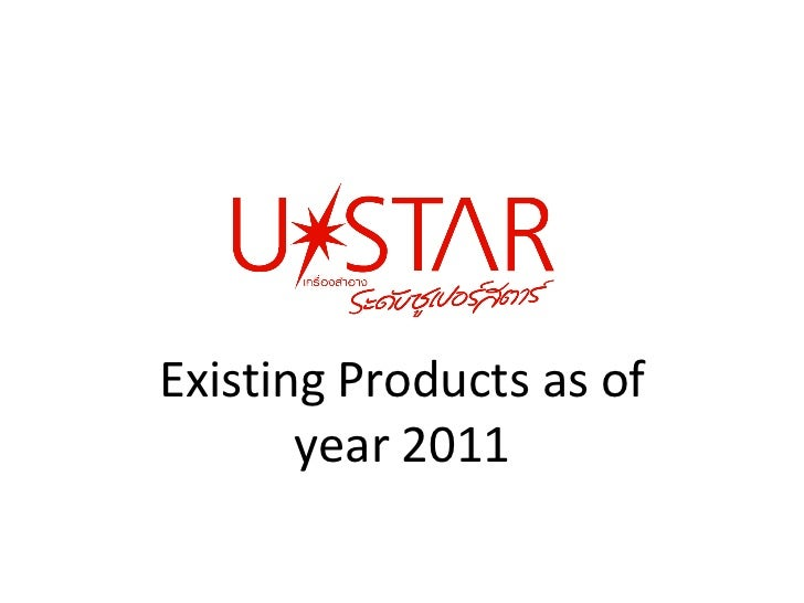 Existing Products as of year 2011