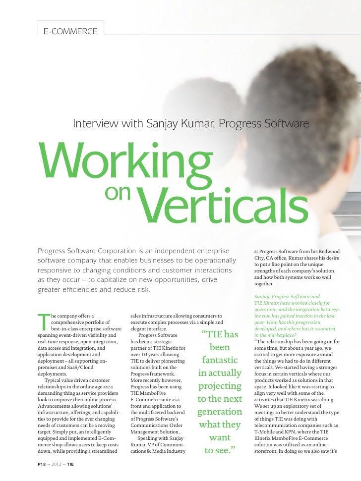 TIE Magazine #4: Interview Sanjay Kumar, Progress Software - Clopay Saves big Through Outsourcing EDI