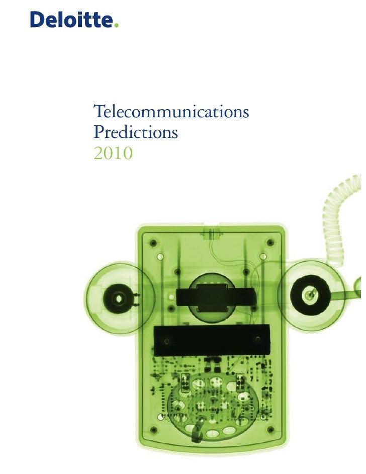 Telecommunications Predictions 2010