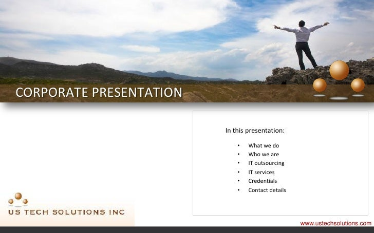 CORPORATE PRESENTATION                         In this presentation:                             •   What we do           ...