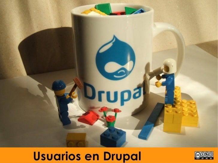 Xestión básica usuarios e módulo Drupal6
