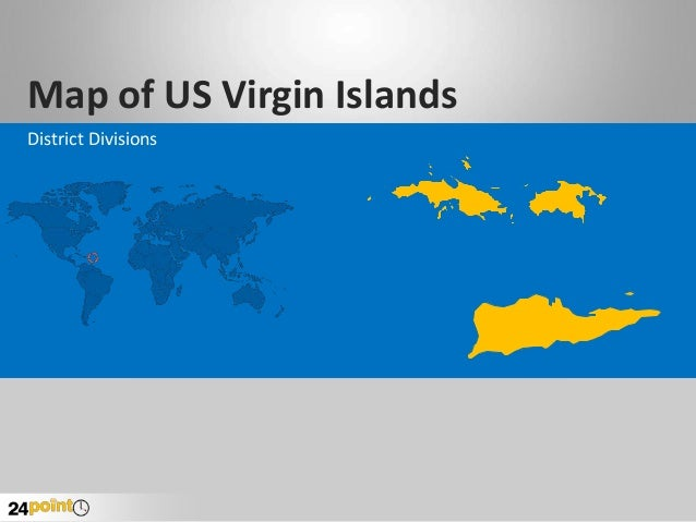 Map of US Virgin Islands District Divisions