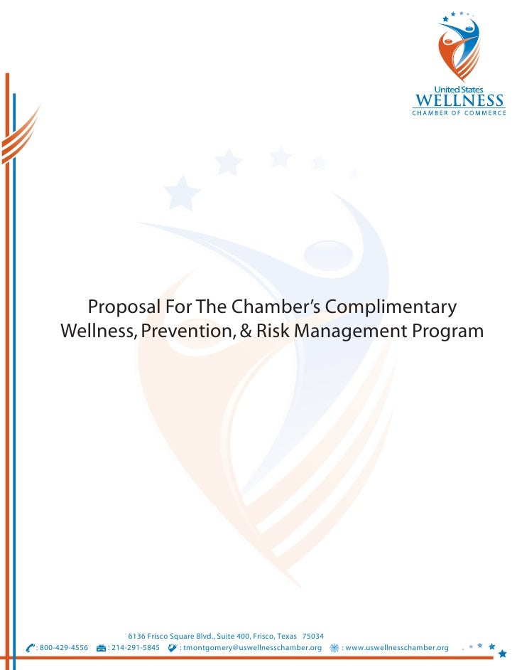 Proposal For The Chamber's Complimentary       Wellness, Prevention, & Risk Management Program                            ...