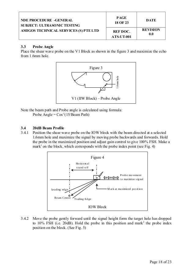 ultrasonic testing formula Angle beam inspection calculations  the location of the nodes can be obtained by using the trigonometric functions or by using the trig-based formulas which are .
