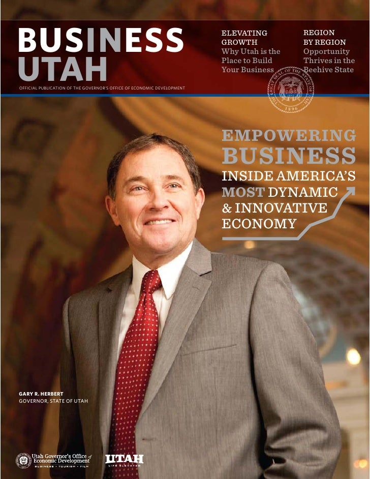 ELEVATING         REGION GROWTH            BY REGION Why Utah is the   Opportunity Place to Build    Thrives in the Your B...