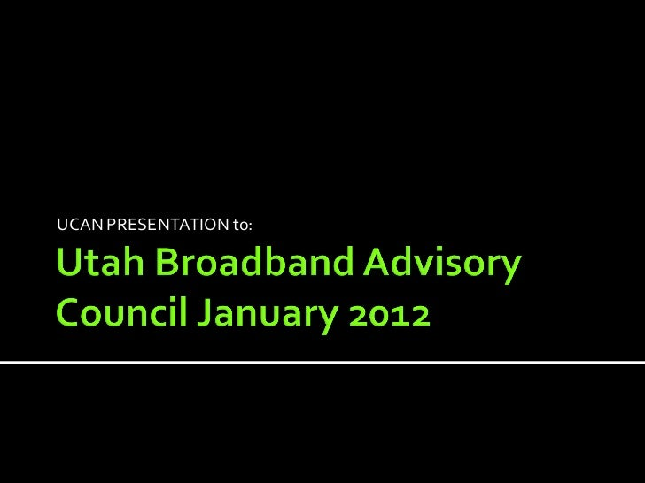 Utah Communications Agency Network Overview