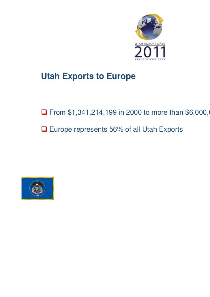 Utah Exports to Europe