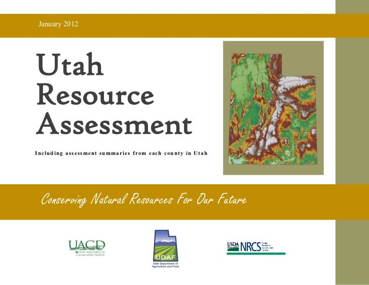 Assessment of Utah's Agricultural Resources