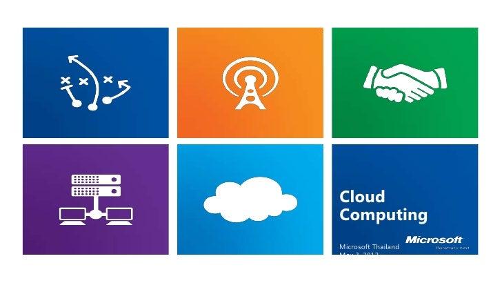 CloudComputingMicrosoft ThailandMay 3, 2012sawits@microsoft.com