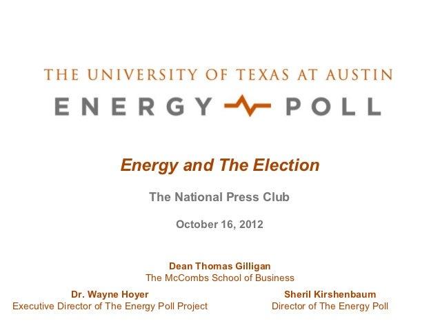 UT Energy Poll Fall 2012