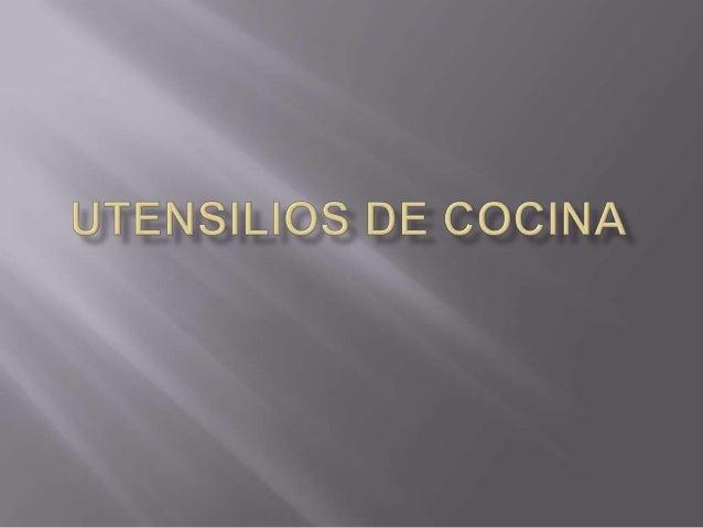 Utensilios de cocina for Utensilios de cocina mexicana