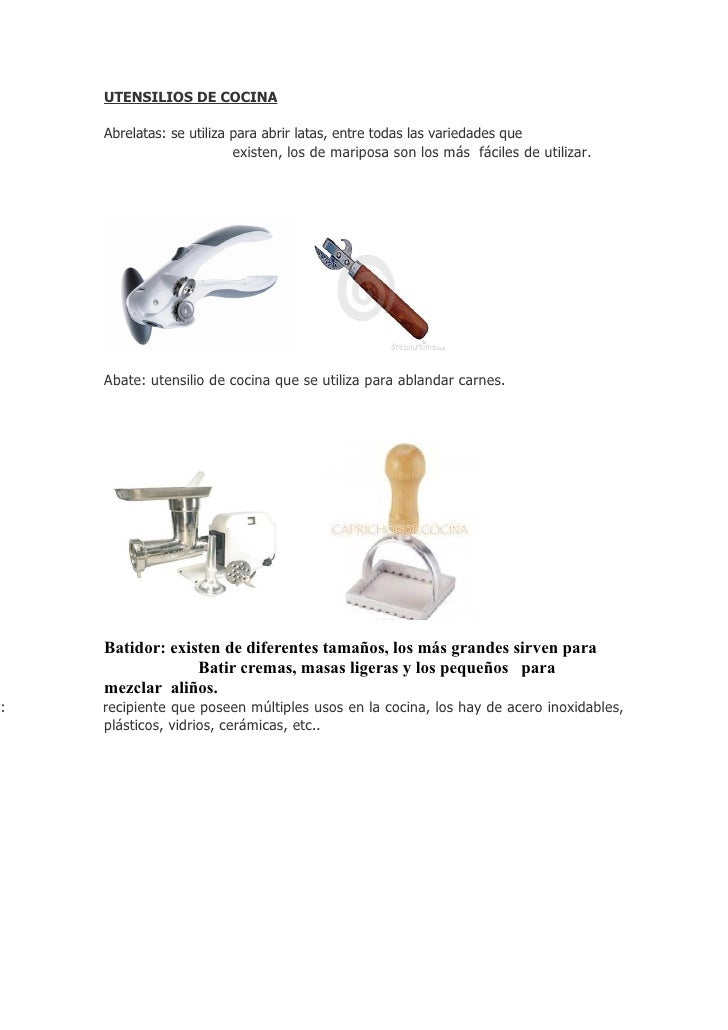 Utensilios de cocina miranda manzor for Utensilios de cocina para zurdos
