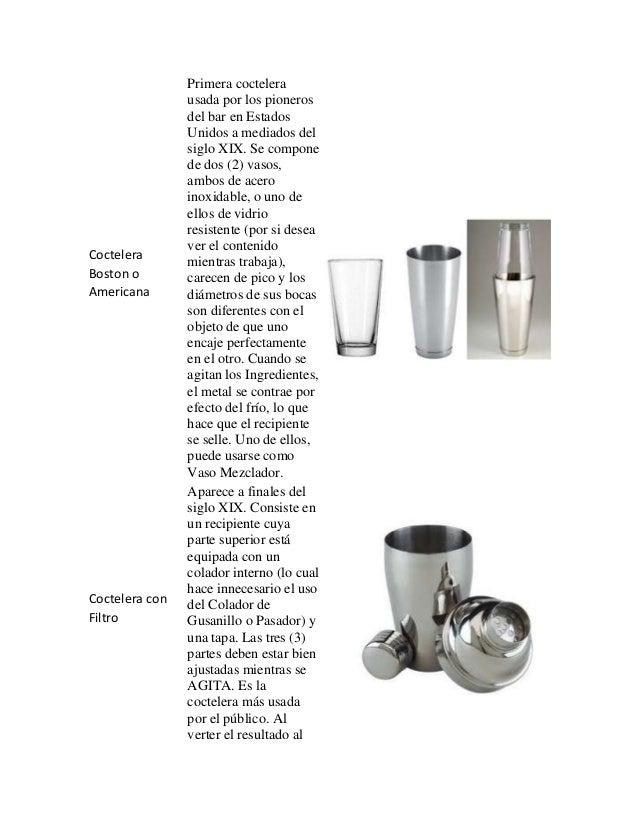 utensilios para el bar y sus funciones ForUtensilios De Cocina Y Sus Funciones Pdf