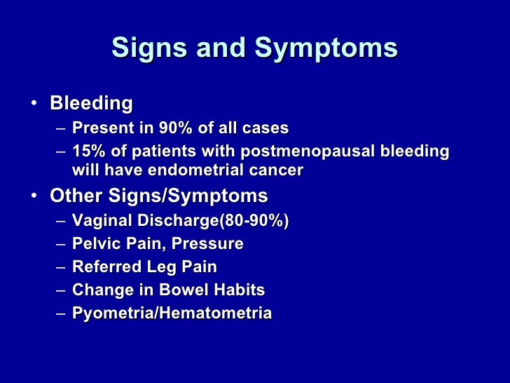 Uterine Cancer Symptoms