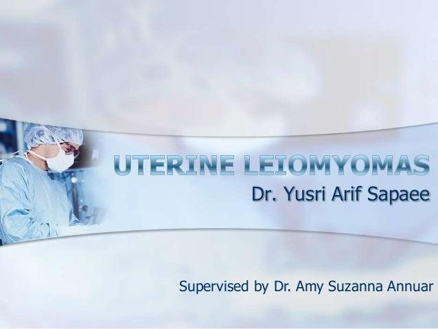Dr. Yusri Arif Sapaee Supervised by Dr. Amy Suzanna Annuar