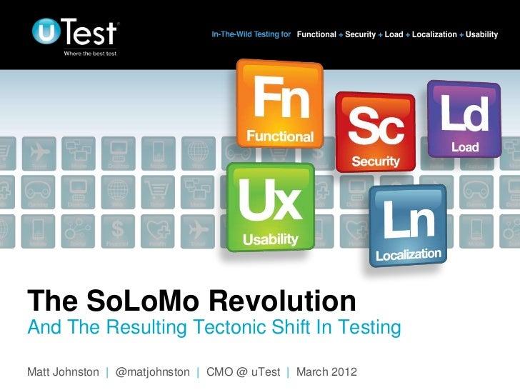 uTest  STPcon spring 2012 presentation