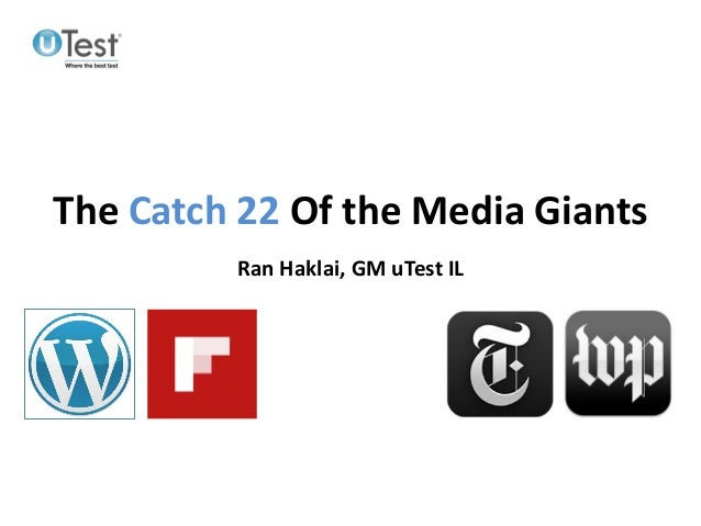 Media Giants Catch-22 of the Digital Age