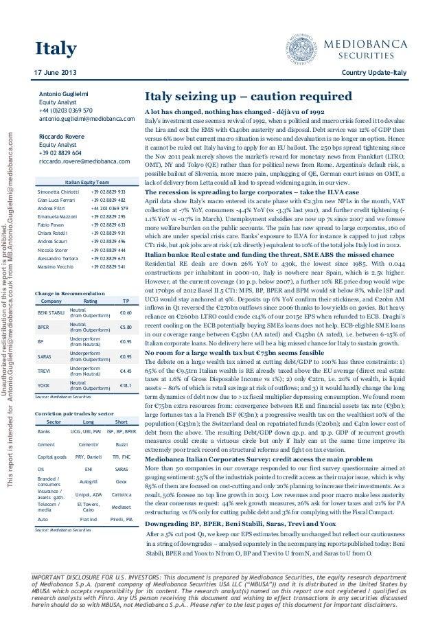 report mediobanca securities