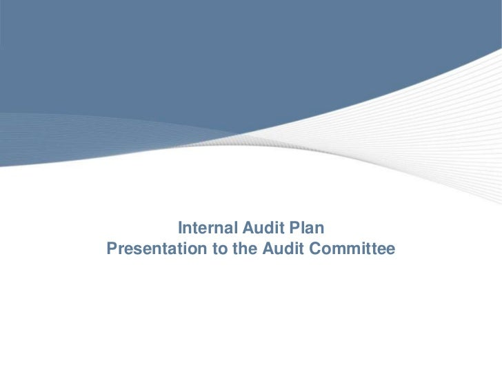Internal Audit PlanPresentation to the Audit Committee