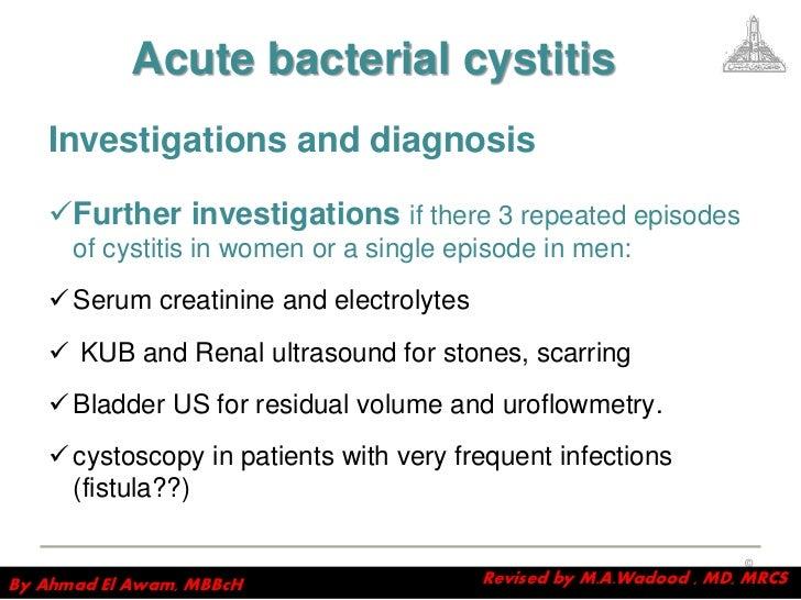 Acute cystitis in men