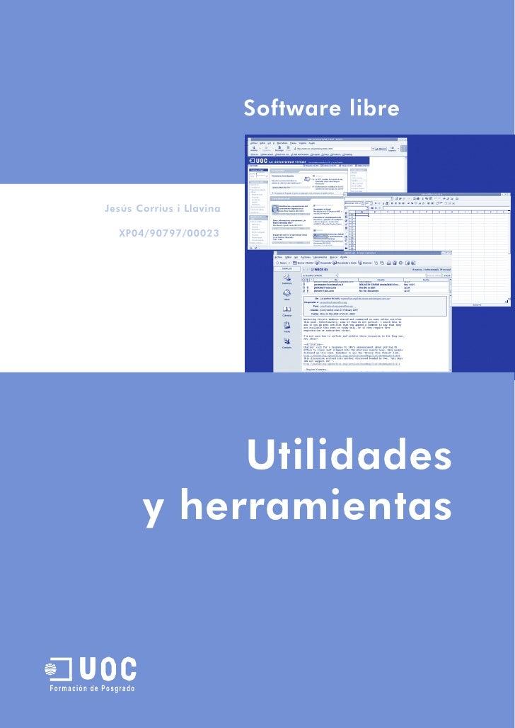 Software libre                 Jesús Corrius i Llavina                   XP04/90797/00023                                 ...
