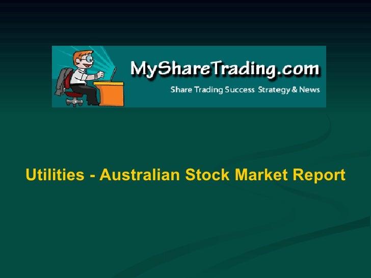 Utilities - Australian Stock Market Report